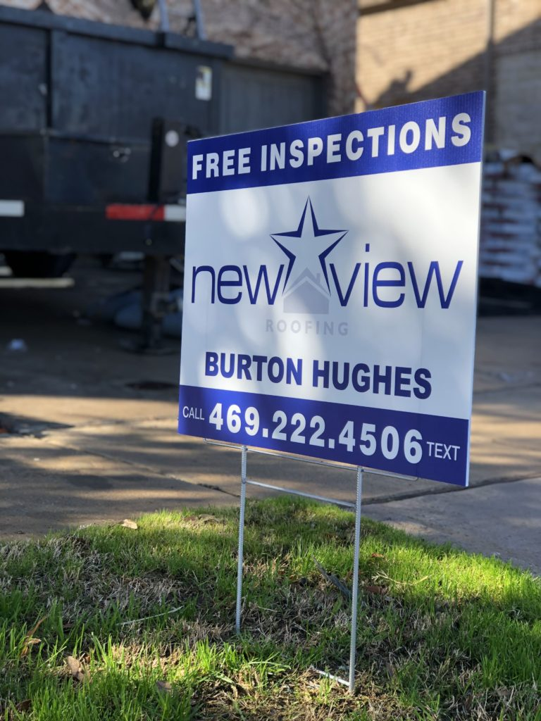 Burton Hughes New View Yard Sign